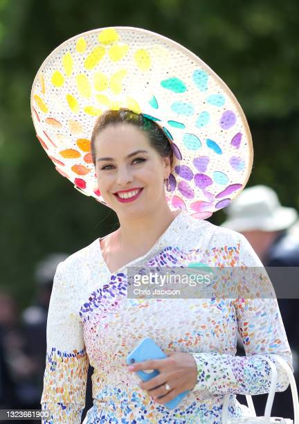 Race-goers attend Royal Ascot 2021 at Ascot Racecourse on June 15, 2021 in Ascot, England. This year's Royal Ascot is admitting 12,000 race-goers a...