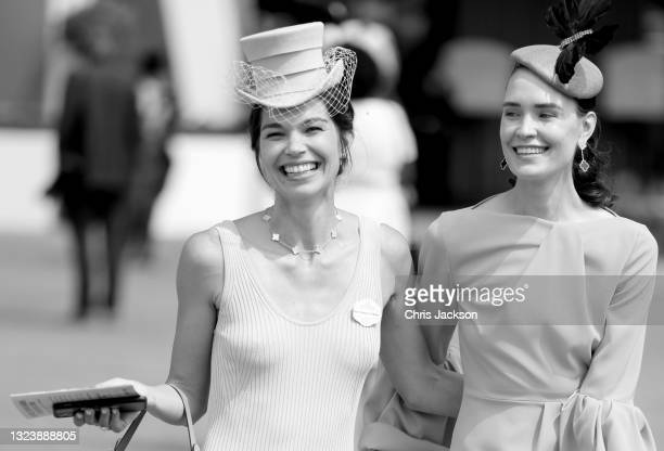 Racegoers attend Royal Ascot 2021 at Ascot Racecourse on June 16, 2021 in Ascot, England.