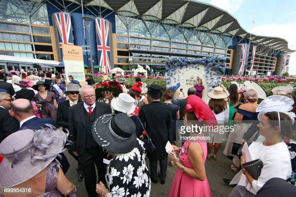 Racegoers attend Royal Ascot Ladies Day 2017 at Ascot Racecourse on June 22 2017 in Ascot England
