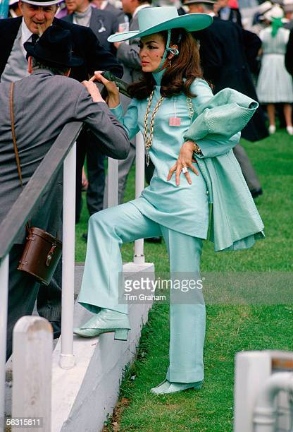Racegoers attend the Epsom Derby England United Kingdom