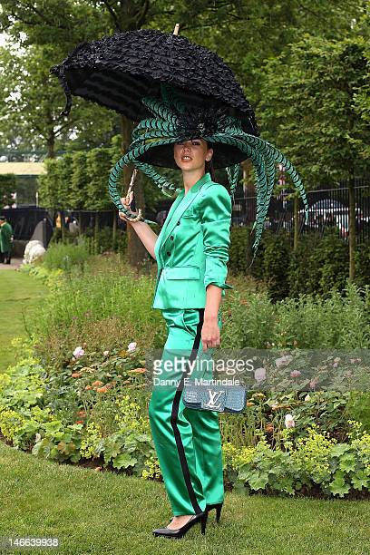 Racegoers attends day three of Royal Ascot Ladies Day at Ascot Racecourse on June 21 2012 in Ascot England