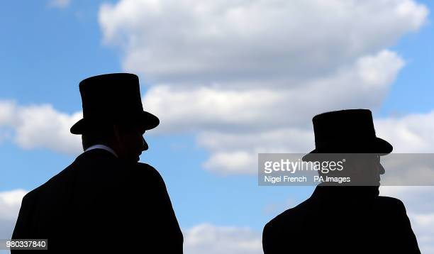 Racegoers during day three of Royal Ascot at Ascot Racecourse.