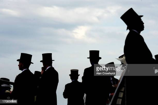 Racegoers during day two of Royal Ascot at Ascot Racecourse on June 19 2013 in Ascot England