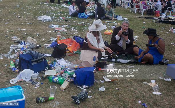 Racegoers eat amidst litter at the Royal Ascot After over a decade of Labour Government in Great Britain the gap between the wealthy and the poor is...