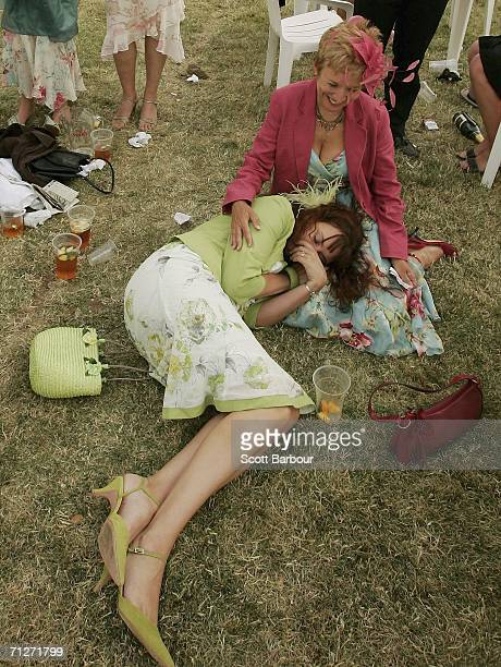 Race-goers enjoy the atmosphere at Ladies' Day during the third day of Royal Ascot at the Ascot Racecourse on June 22, 2006 in Berkshire, England....