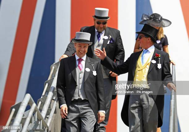 Racegoers enjoy the atmosphere in the Royal Enclosure during day two of Royal Ascot at Ascot Racecourse