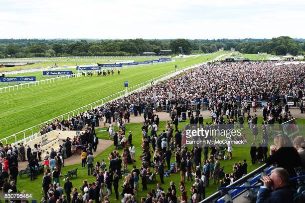 Racegoers enjoy The Dubai Duty Free Shergar Cup at Ascot Racecourse on August 12 2017 in Ascot England