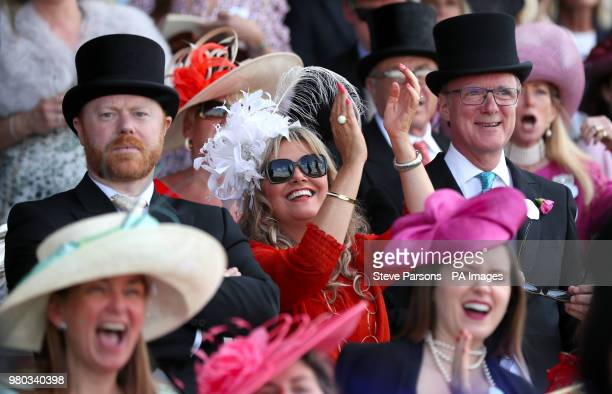 Racegoers in the stands during day three of Royal Ascot at Ascot Racecourse.
