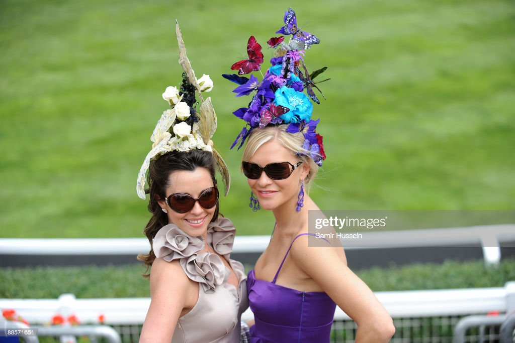 Racegoers Ladies Day of Royal Ascot at Ascot Racecourse on June 18, 2009 in Ascot, England.