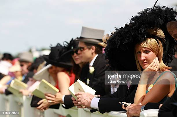 Racegoers look on during day one of Royal Ascot at Ascot racecourse on June 14 2011 in Ascot England