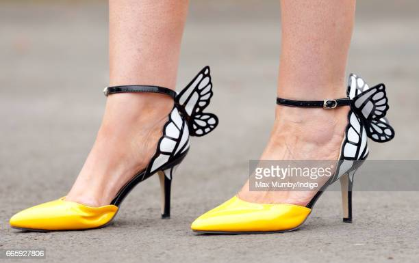 A Racegoer's shoe detail seen on day 2 'Ladies Day' of the Randox Health Grand National Festival at Aintree Racecourse on April 7 2017 in Liverpool...