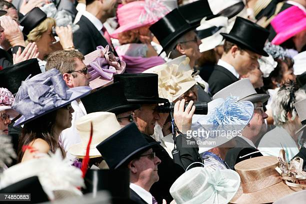 Racegoers watch Royal Ascot Races on Ladies Day on June 21 2007 in Ascot England