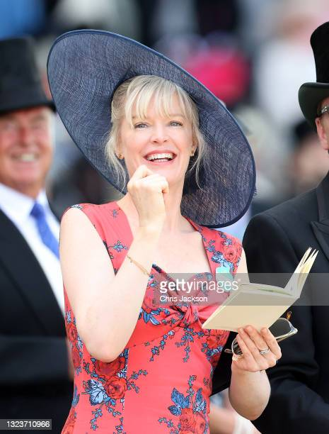 Racegoers watch the action during Royal Ascot 2021 at Ascot Racecourse on June 15, 2021 in Ascot, England. This year's Royal Ascot is admitting...