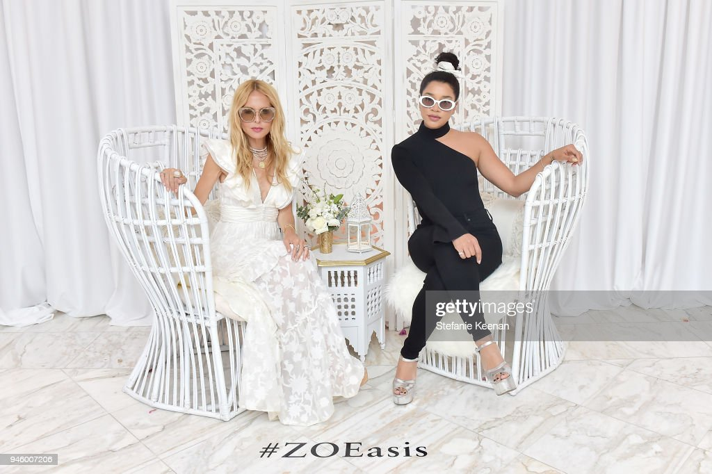 Racehl Zoe (L) and Hannah Bronfman attend ZOEasis 2018 at Parker Palm Springs on April 13, 2018 in Palm Springs, California.