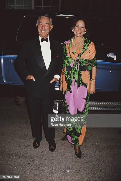 Racehorse owner/breeder art collector and businessman Henryk de Kwiatkowski and his wife Barbara Tanner Allen at the opening of the 'Andy Warhol...