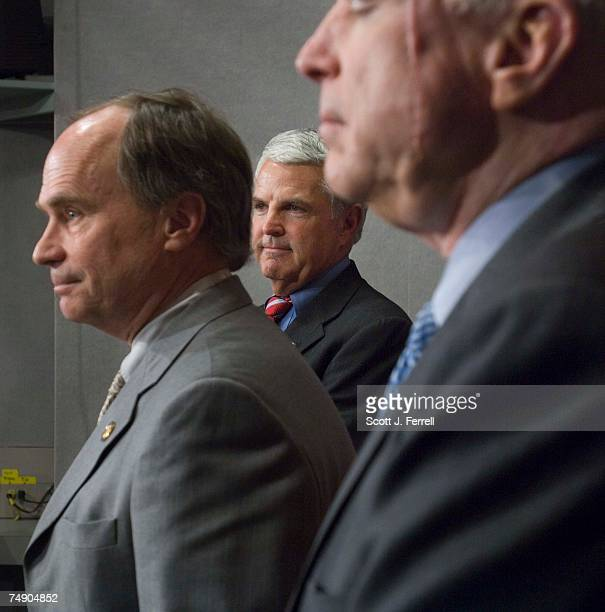 RACEJohn Shadegg RAriz middle with supporters Charles Bass RNH left and Sen John McCain RAriz the Republican most clearly identified in the public's...