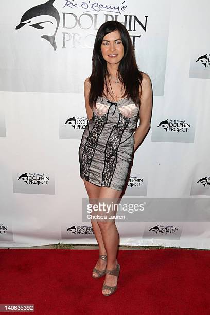 ARCA racer Leilani Munter arrives at the cocktail reception honoring Richard O'Barry on March 3 2012 in West Hollywood California