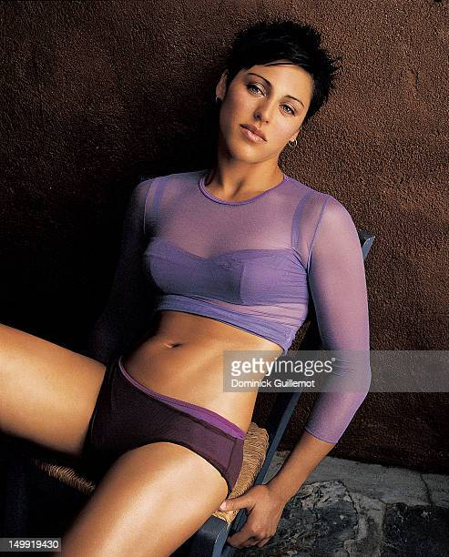 BMX racer Tara Llanes is photographed for Maxim Magazine on October 1 2001 in Los Angeles California