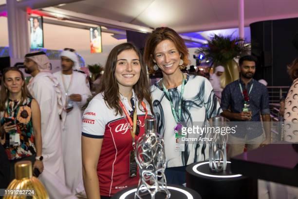 F2 racer Tatiana Calderón at the launch of the F1 fragrance at the Formula 1 Etihad Airways Grand Prix Yas Marina Circuit on December 1 2019 in Abu...