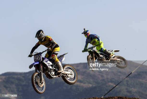 Racers compete in the final round of Motocross World Championship in Afyonkarahisar Turkey on September 08 2019