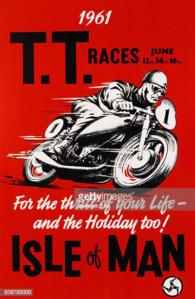 TT Races Isle of Man Motorcylce Racing Poster