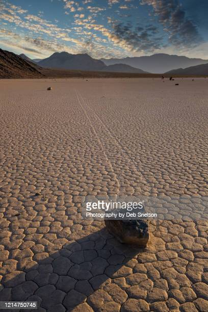racetrack playa death valley national park at sunset - lake bed stock pictures, royalty-free photos & images