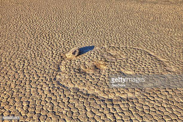Racetrack Playa, famous for sailing stones