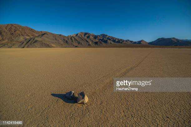 racetrack playa in death valley - lake bed stock photos and pictures