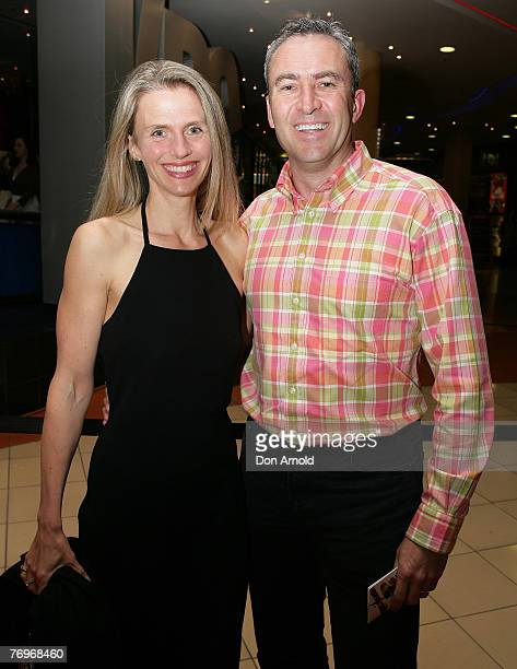 Rachael and Mark Beretta attend the Sydney premiere of Miss Saigon at the Lyric Theatre on September 22, 2007 in Sydney, Australia.