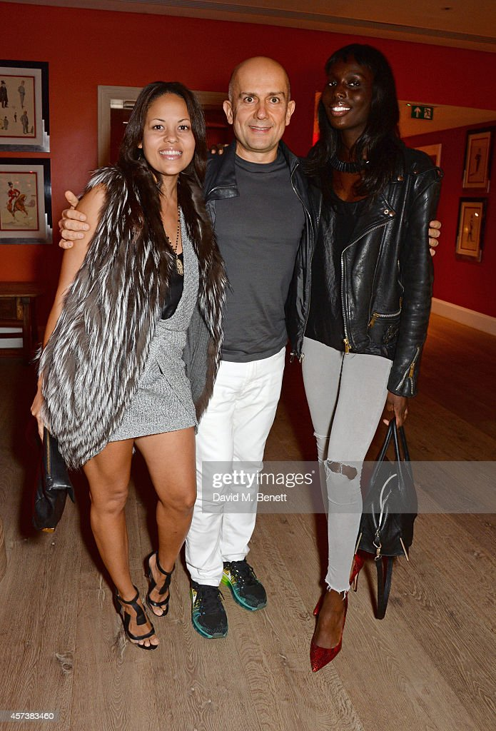 Rachael Barrett, Marc Quinn and Jenny Bastet attend the VIP Gala Screening of 'Marc Quinn: Making Waves' at the Ham Yard Hotel on October 17, 2014 in London, England.