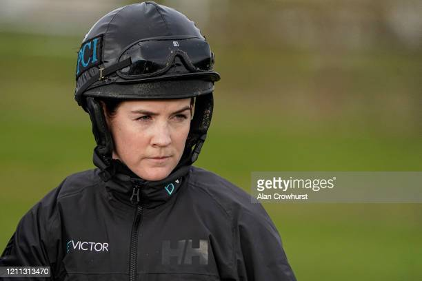 Rachael Blackmore poses at Cheltenham Racecourse on March 09 2020 in Cheltenham England