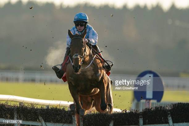 rachael Blackmore riding Honeysuckle clear the last to win The baroneracingcom Hatton's Grace Hurdle at Fairyhouse Racecourse on December 01 2019 in...