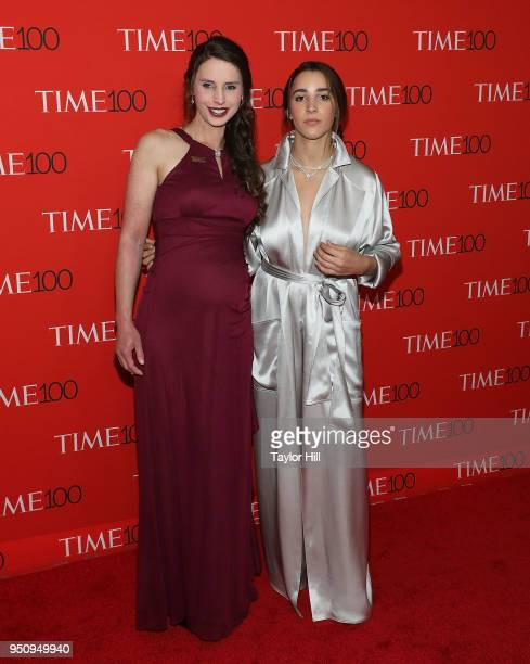 Rachael Denhollander and Aly Raisman attend the 2018 Time 100 Gala at Frederick P Rose Hall Jazz at Lincoln Center on April 24 2018 in New York City