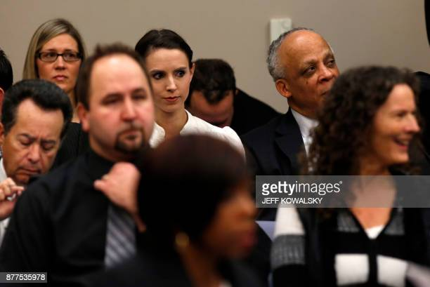 Rachael Denhollander the first woman to publicly say she was sexually abused by Larry Nassar the former physician for the US womens gymnastics team...