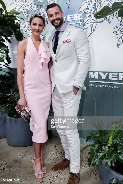 Rachael Finch and Kris Smith during the Myer Spring Racing 2017 Collections Launch on September 1 2017 in Melbourne Australia