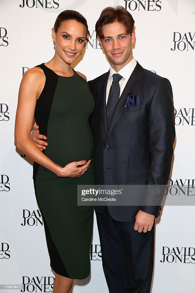 Rachael Finch and Michael Miziner arrive at the David Jones Spring/Summer 2013 Collection Launch at David Jones Elizabeth Street on July 31, 2013 in Sydney, Australia.