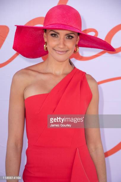 Rachael Finch attends Melbourne Cup Day at Flemington Racecourse on November 05 2019 in Melbourne Australia