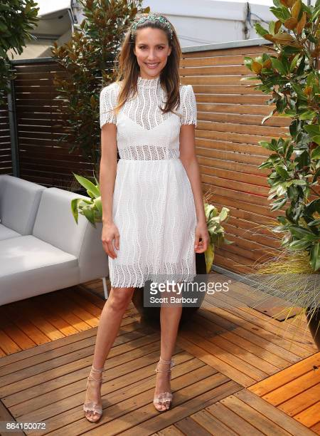 Rachael Finch attends on Caulfield Cup Day at Caulfield Racecourse on October 21 2017 in Melbourne Australia