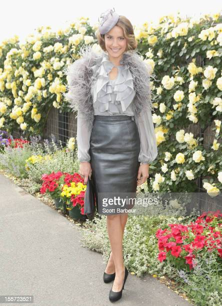 Rachael Finch attends on Crown Oaks Day at Flemington Racecourse on November 8 2012 in Melbourne Australia