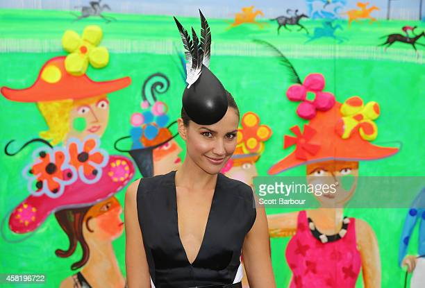 Rachael Finch attends on Derby Day at Flemington Racecourse on November 1 2014 in Melbourne Australia