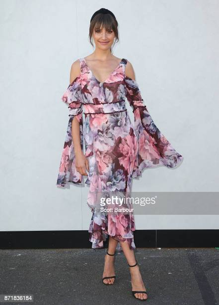 Rachael Finch attends on Oaks Day at Flemington Racecourse on November 9 2017 in Melbourne Australia