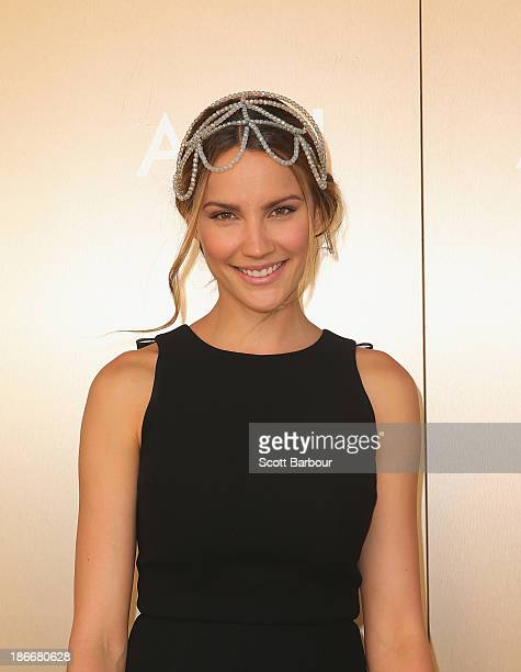 Rachael Finch attends on Victoria Derby Day at Flemington Racecourse on November 2 2013 in Melbourne Australia