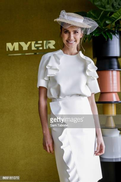 Rachael Finch during the Melbourne Cup Carnival Media Preview Day at Flemington Racecourse on November 2 2017 in Melbourne Australia