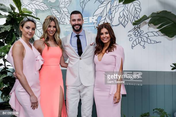 Rachael Finch Jennifer HawkinsKris Smith and Lauren Phillips during the Myer Spring Racing 2017 Collections Launch on September 1 2017 in Melbourne...