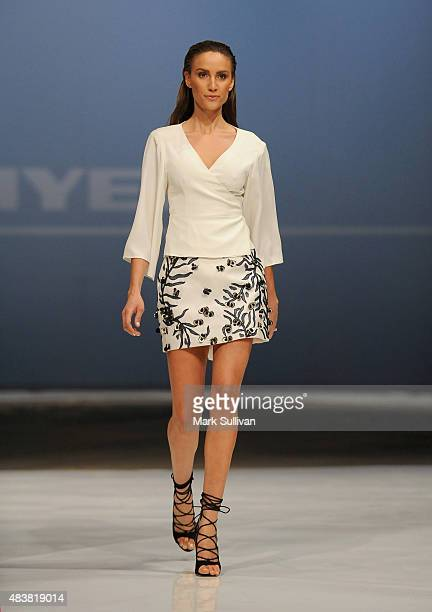 Rachael Finch models during the Myer Spring 2015 Fashion Launch on August 13 2015 in Sydney Australia
