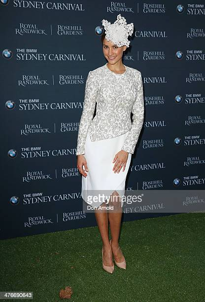 Rachael Finch poses at the BMW Sydney Carnival launch at Martin Place on March 5 2014 in Sydney Australia