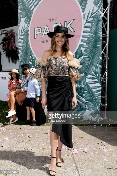 Rachael Finch poses during the Melbourne Cup Carnival Launch at Flemington Racecourse on October 30 2017 in Melbourne Australia