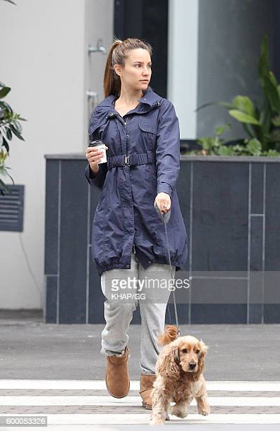 Rachael Finch with her daughter Violet ion August 31 2016 in Sydney Australia