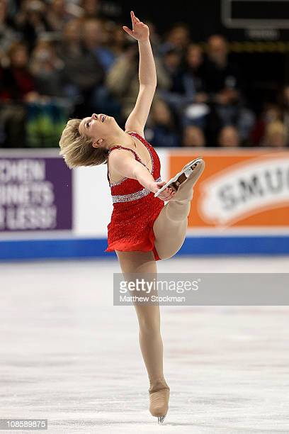 Rachael Flatt competes in the Championship Ladies Free Skate during the US Figure Skating Championships at the Greensboro Coliseum on January 29 2011...
