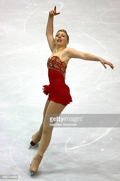 Rachael Flatt competes in the Free Skate during the CancerNet Skate America at Herb Brooks Arena on November 15 2009 in Lake Placid New York